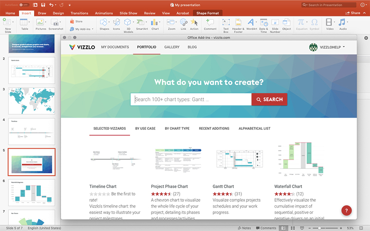 Vizzlo Google Slides screenshot