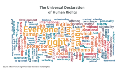 Word Cloud example: The Universal Declaration Of Human Rights