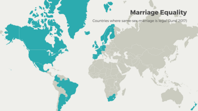 World Map example: Marriage Equality