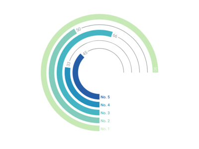 Horizontal Bar Chart alternative: Radial Bar Chart
